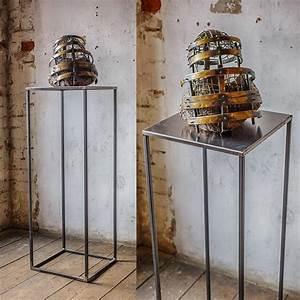 Kerzenständer Hoch Metall : sockel podest pedestal crepido 100 cm hoch aus metall notoria ~ Indierocktalk.com Haus und Dekorationen