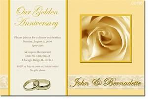 cu390 golden anniversary engagement wedding With blank golden wedding invitations