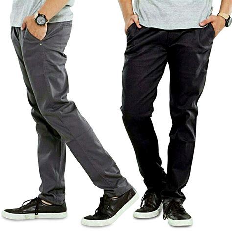 celana panjang chino celana chino pria chino pakaian pria elevenia