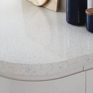 White Mirror Chip worktop Kitchen worktops Howdens Joinery