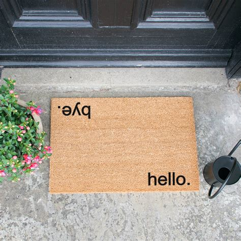 Buy Doormat by Buy Artsy Doormats Hello Bye Door Mat Amara