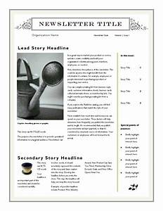 newsletter layout templates free download - free newsletter template for word 2007 and later