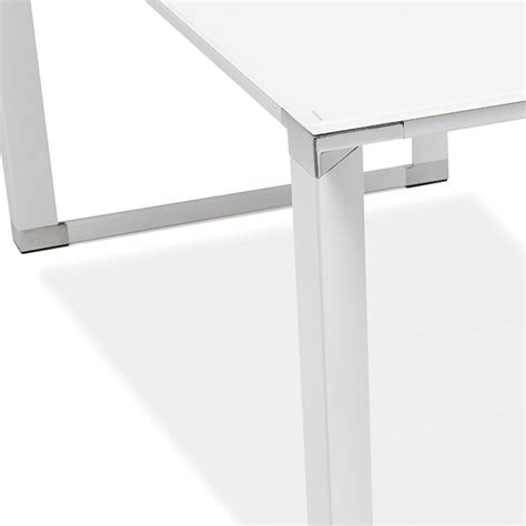 bureau d angle design blanc bureau d 39 angle design quot hovik quot verre blanc