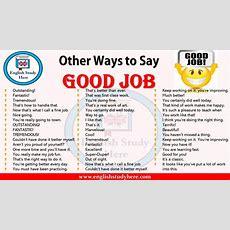 Other Ways To Say Good Job  English Study Here