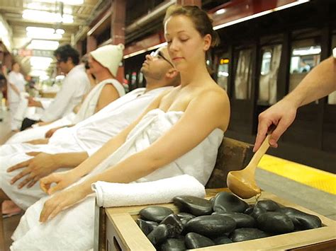 improv everywhere s latet stunt puts a spa in the nyc 487   subway spa 600