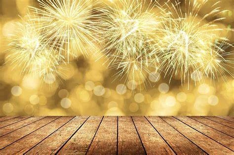 fireworks canary yellow bokeh background  christmas