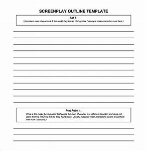 screenplay outline template 7 free sample example With free movie script template