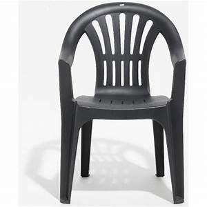 Fauteuil Plastique Jardin : fauteuil de jardin gris anthracite table chaise salon de jardin mobilier de jardin ~ Teatrodelosmanantiales.com Idées de Décoration