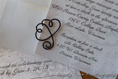 wedding paper clips onepaperheart stationary invitations