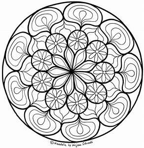 Blumen Mandala Zum Entspannen Fr Erwachsene MandalaMalspiel