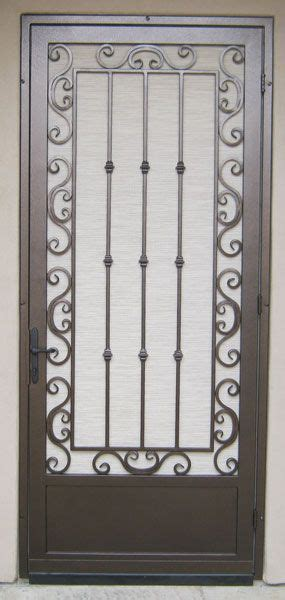 security screen doors great gates  whiting iron