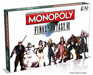 Final Fantasy VII Is Getting A Monopoly Set Xbox One
