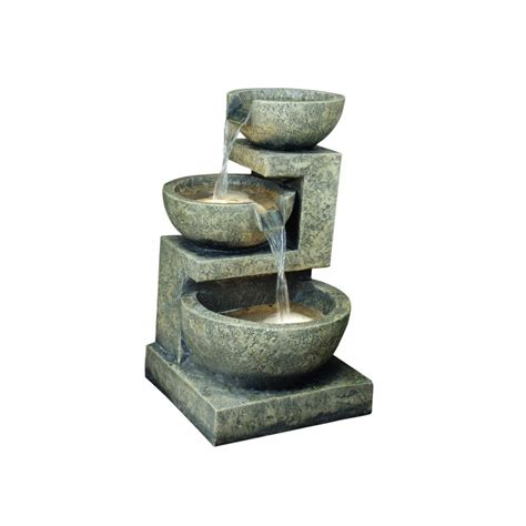 strobe light water fountain popular amongst small water fountains granite 3 bowl 49 cm