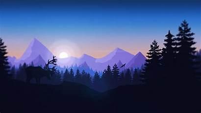 Firewatch Forest Mountains Animals Minimalism Desktop Wallpapers