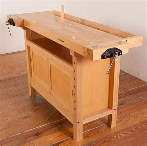white gate double vise woodworking bench  bremo auctions