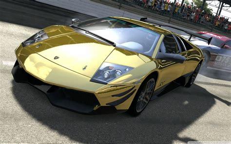 Lamborghini Murcielago Lp670-4 Sv Gold 4k Hd Desktop
