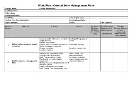 Work Plan Template Professional Work Plan Template Images Template Design Ideas
