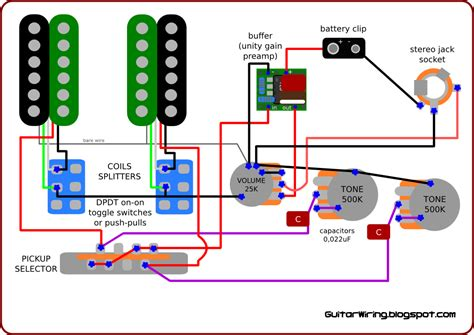 Capacitor Wiring Diagram For Guitar by The Guitar Wiring Diagrams And Tips Wiring