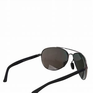 GUCCI MIrrored Web Aviator Sunglasses 2266/S Black 172912