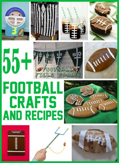 55 football crafts amp recipes for family crafts 334 | 55 football crafts for kids