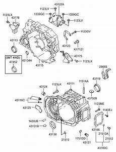 2007 Hyundai Tucson Transaxle Case-manual