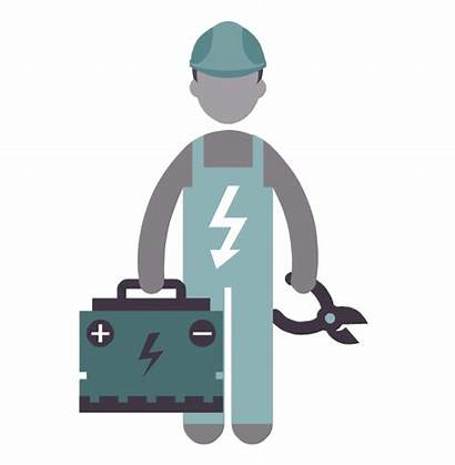 Electrical Engineer Electrician Clipart Vector Electricians Icon