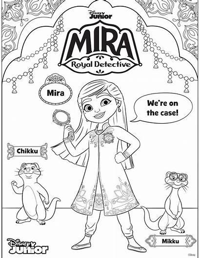 Mira Coloring Detective Royal Detetive Disney Sheets