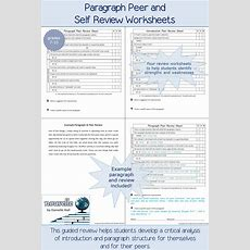 Paragraph Peer And Self Review Worksheets  Sample Review Included  Paragraph, Worksheets And