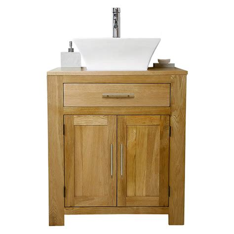 50% Off Solid Oak Vanity Unit With Basin Sink 700mm