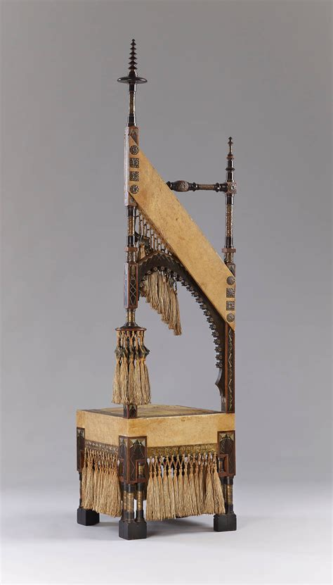 Chest of drawers carlo bugatti, 1904. Carlo Bugatti - Walnut Throne Chair For Sale at 1stdibs
