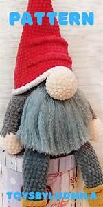Crochet Pattern Big Gnome Amigurumi Christmas Stuffed Doll