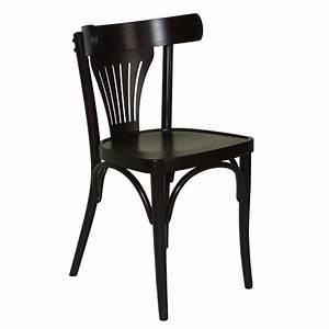 Chaise Bistrot Bois : chaise bistrot en bois couleur weng czh x78 one mobilier ~ Teatrodelosmanantiales.com Idées de Décoration