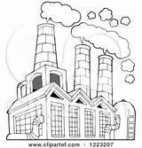 Factory Air Clipart Building Polluting Pollution Outlined Coloring Illustration Vector Visekart Royalty Posters Pages Sketch Poster Illustrations Prints Smokestacks Template sketch template