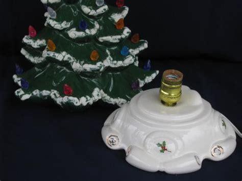 60s 70s vintage handmade ceramic tree w plastic