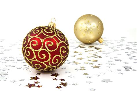 and gold ornaments ornaments free stock photo red and gold christmas ornaments on a white floor with silver