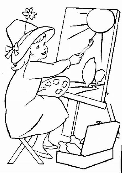 Jobs Coloring Pages Artist
