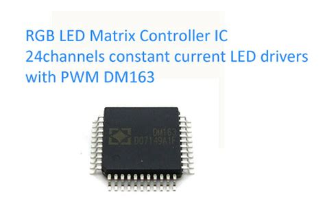 Rgb Led Matrix Arduino Control Channels Constant