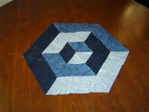3D Tumbling Block Quilt Pattern Free