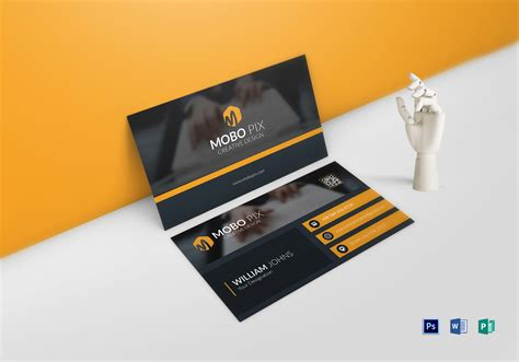 double sided business card design template  word psd