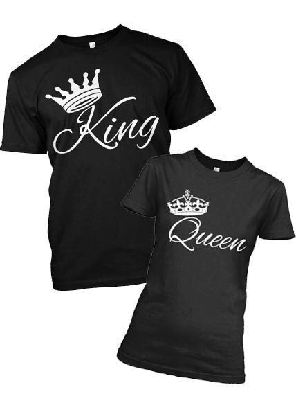 KING - QUEEN CROWN T-SHIRTS FOR COUPLE, ON SUMMER SALE