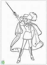 Coloring Three Barbie Musketeers Pages Musketeer Colouring Printable Bulk Trending Days Last sketch template