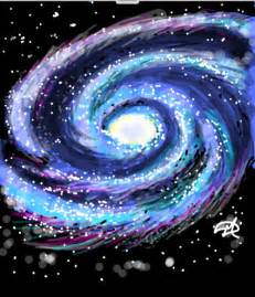 How to Draw Milky Way Galaxy
