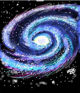 Milky Way Spiral Galaxy Drawing (page 3) - Pics about space