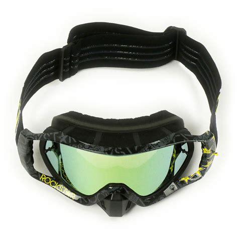 rockstar motocross goggles dragon new mx vendetta rockstar energy black gold tinted