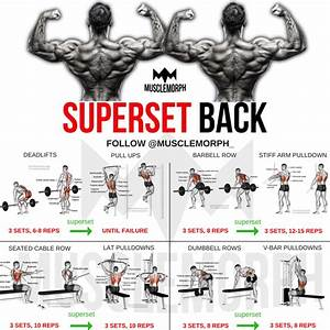 Superset Back Back Workout Bodybuilding Gym Musclemorph S Musclemorphsupps Com Bodybuilding Program