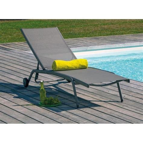 bain de soleil prima en aluminium et textil 232 ne taupe sand taupe proloisirs