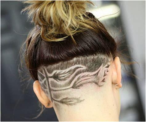 elegant designed undercuts hairstyles  female