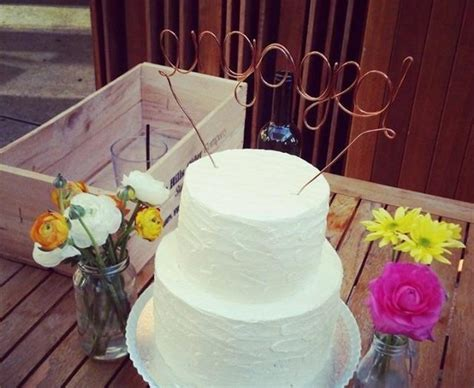 custom made wire cake toppers quot engaged quot 2408591 weddbook
