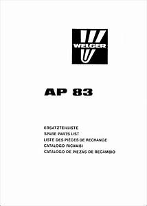 Welger Ap 83 Spare Parts List Download In 2020