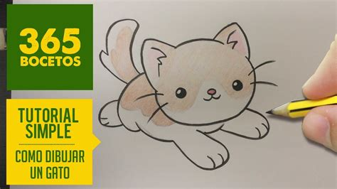 como dibujar un gato kawaii paso a paso dibujos kawaii faciles how to draw a cat
